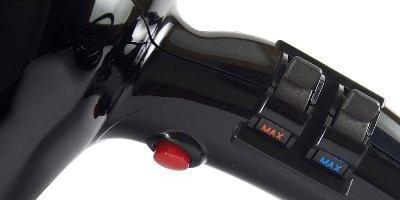 Velocidades del secador de pelo iónicos