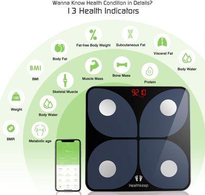 Báscula bioimpedancia HealthKeep