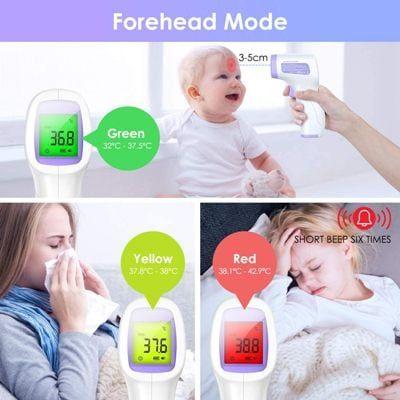Termometro de frente para niños y adultos idoit