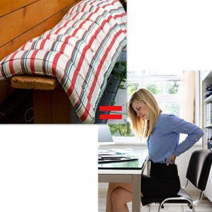 Colcón y silla no ergonómicos