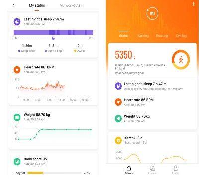 Aplicación Xiaomi Mi 2 báscula