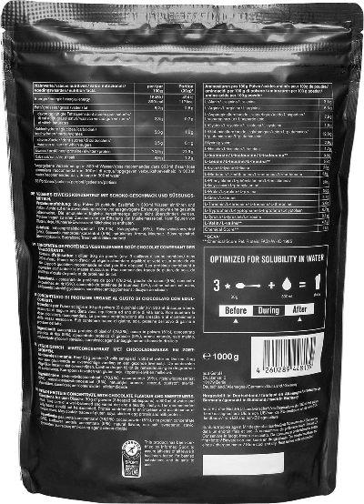 Proteina vegana NU3 ingredientes