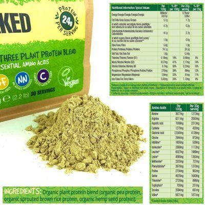 Composición nutricional proteína vegana BodyMe