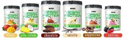 Sabores proteína vegana Weider