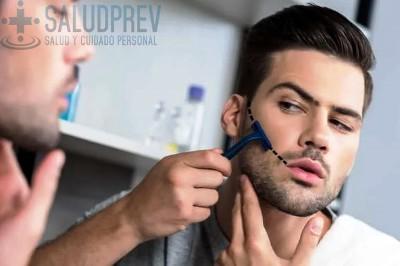 cómo perfilar la barba mejillas