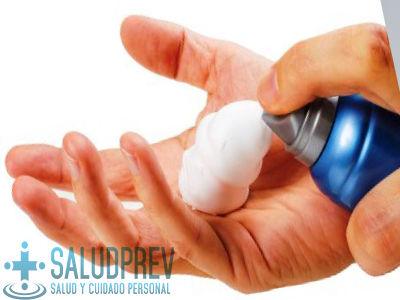espuma para maquina de afeitar