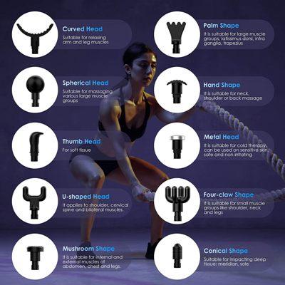 Pistola de masajes OxaOxe accesorios