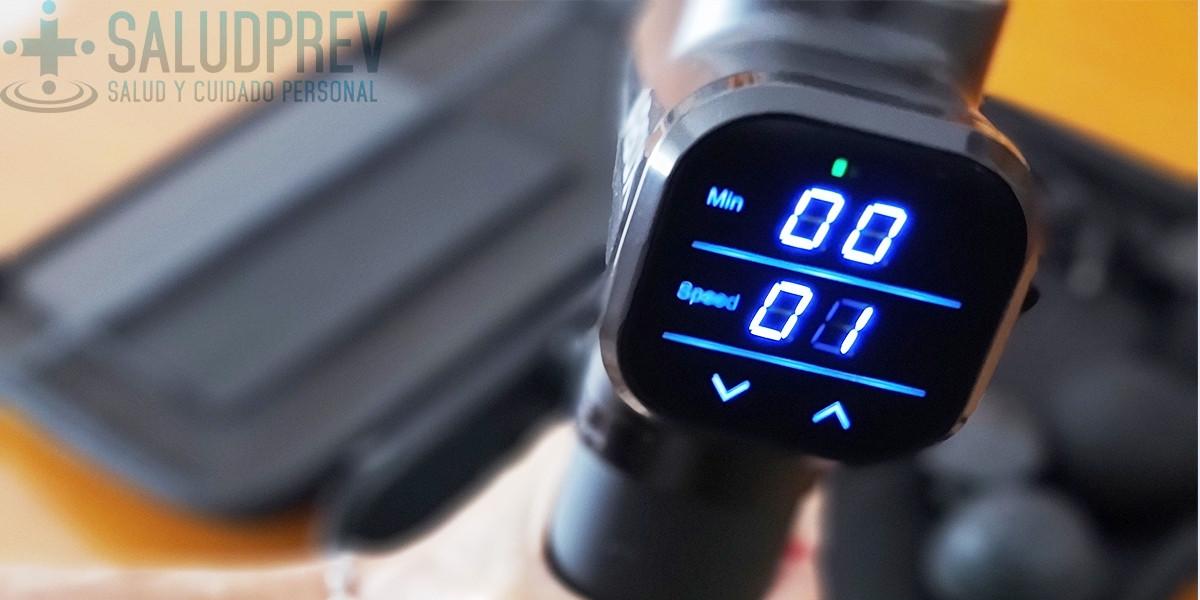 Pantalla de la pistola de masaje muscular ABOX